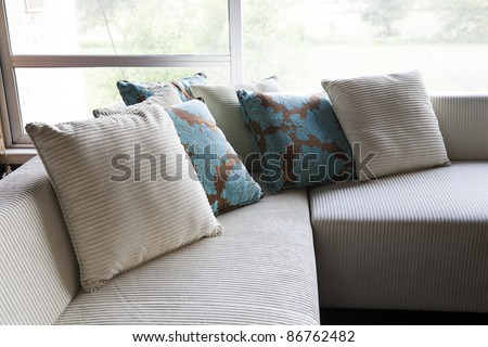 cushions on a sofa set