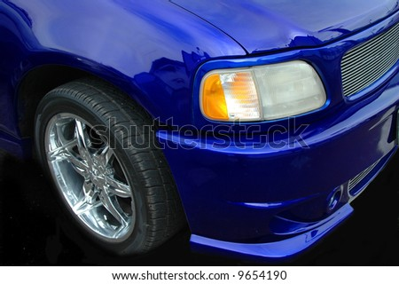 Custom Truck Front End - stock photo