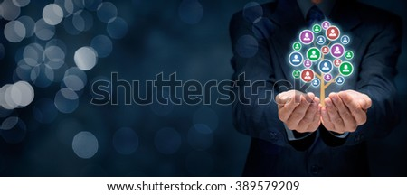 Customer care, care for employees, human resources, life insurance, employment agency and marketing segmentation concepts. Stock photo ©