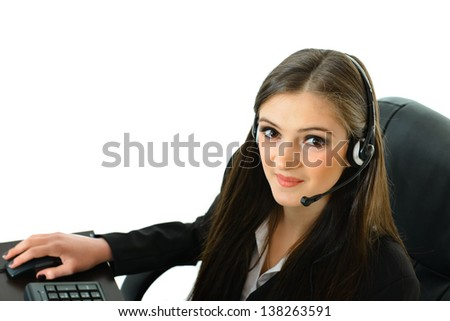 Customer Care Representative Looking Up