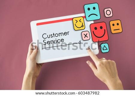 Customer evaluation feedback smiley emoticons #603487982