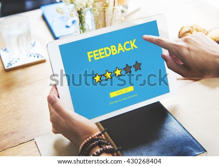 Customer Feedback Comment Vote Review Results Concept #430268404