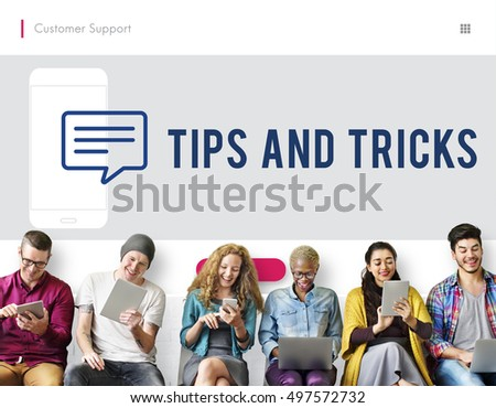 Customer Mobile Communication Speech Bubble Concept #497572732