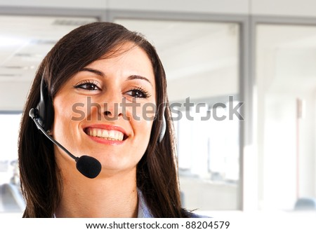 Customer representative portrait