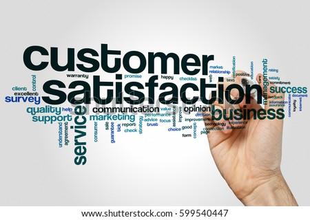 Customer satisfaction word cloud concept #599540447