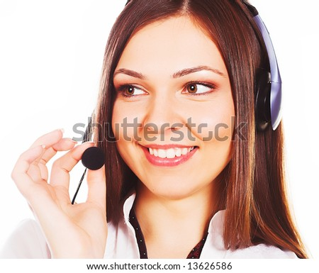 customer service agent looking to the future