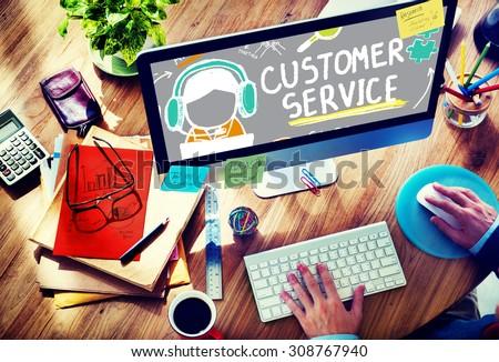 Customer Service Call Center Agent Care Concept