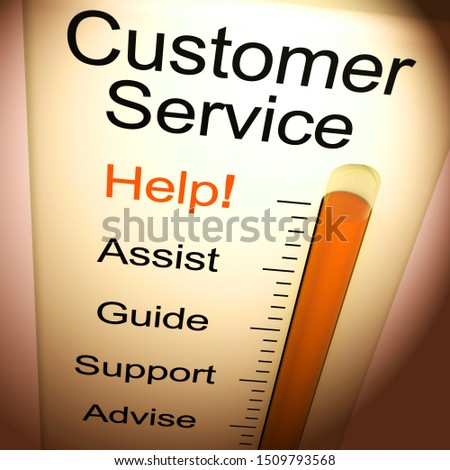 Customer service  concept icon means help and support online. The help desk or hotline for customers - 3d illustration