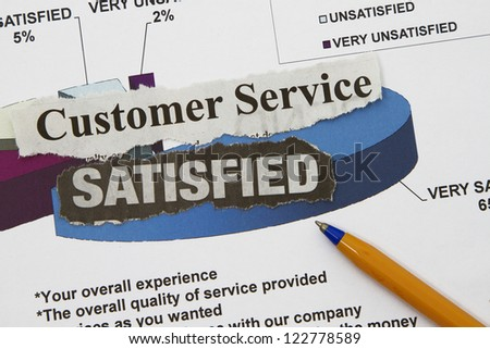 CUSTOMER SERVICE graph with very satisfactory rating
