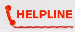 customer service helpline communication hotline with telephone