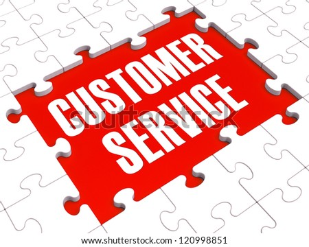 Customer Service Puzzle Showing Support, Assistance And Help