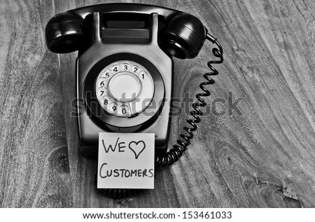 customer service telephone...