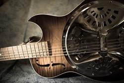 Cut Away Resonator Guitar - Sepia