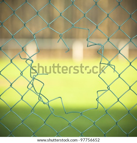 Cut fence. See my portfolio for more