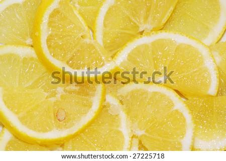 cut lemon with sugar