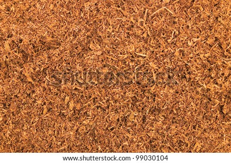 Cut Loose Pipe Tobacco Texture Background, Macro Closeup - stock photo