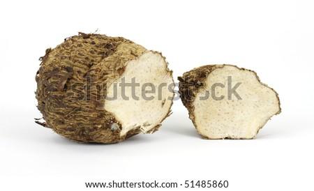 Cut malanga root