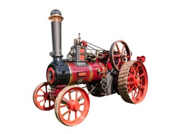 cut out image of a steam traction engine