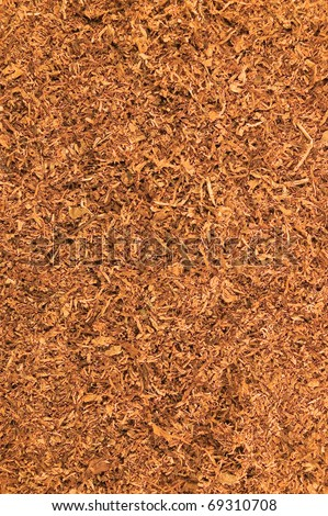 Cut Pipe Tobacco Texture Background, Macro Closeup