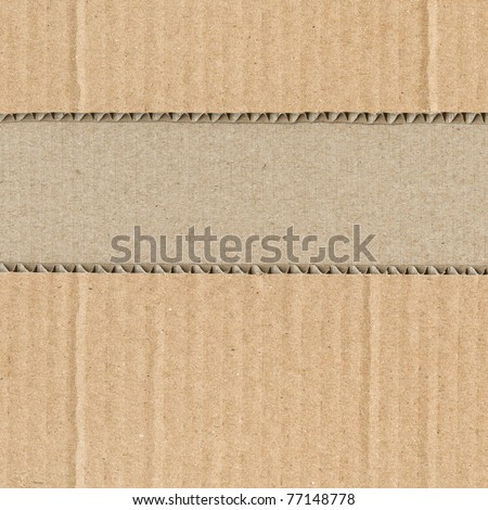 Cut-up corrugated cardboard