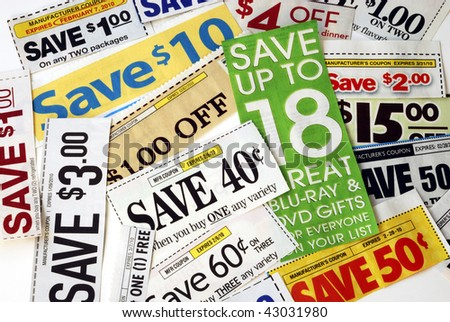Cut up some coupons to save money