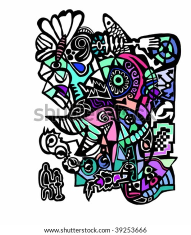 cute abstract pattern. psychedelic background
