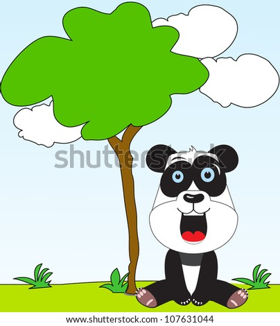 cute adorable panda - stock photo