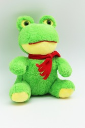 Cute and plush toy frog