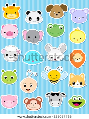 Cute animal face sticker collection specially for kids