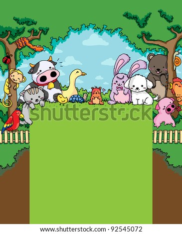 Cute Animals Farm in the Forest