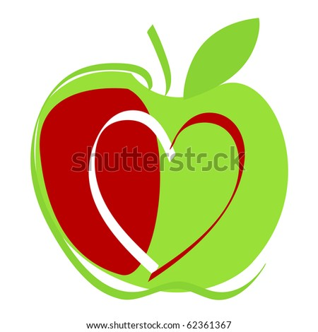 Cute apple illustration