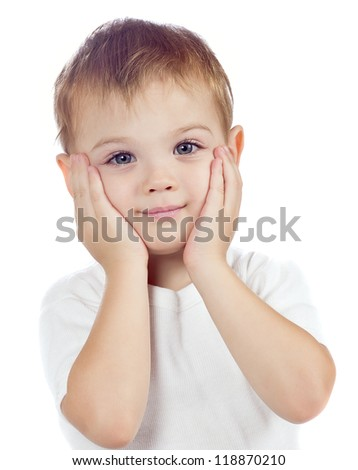 cute baby boy isolated