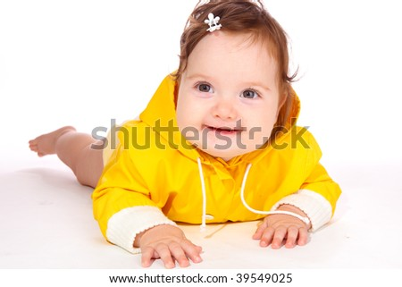 Cute Baby Yellow Dress Cute Baby Girl in a Yellow