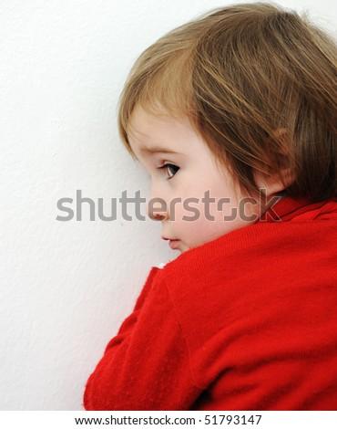 Cute baby hiding