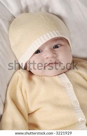 cute baby looking