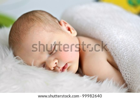 Cute baby sleeps