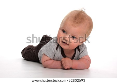 cute baby studio shot