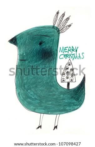 Cute bird - stock photo