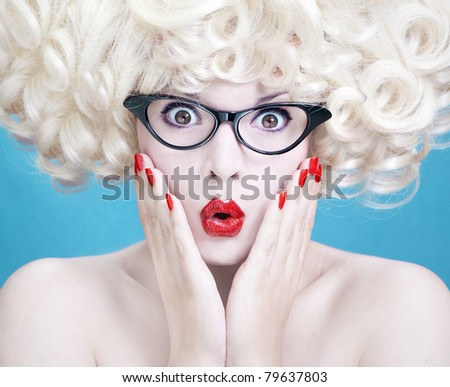 Stock Photo Cute blonde girl