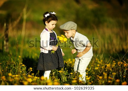 cute boy and girl