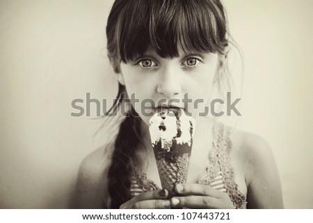 cute brunette little girl...