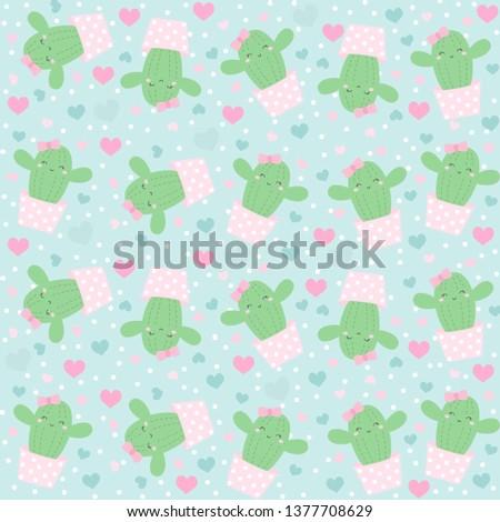 Cute Cactus Background