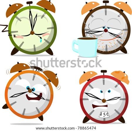 Cute Cartoon Clocks Stock Photo 78865474 Shutterstock