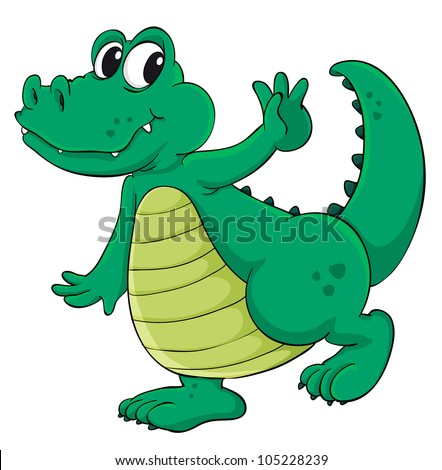 Cute cartoon crocodile on white - EPS VECTOR format also available in my portfolio.