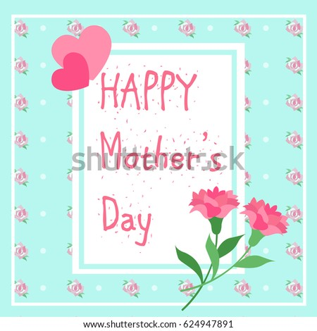 cute cartoon happy mother day for your concept #624947891