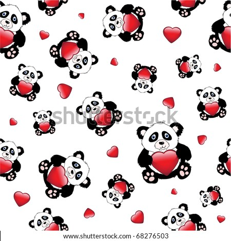 animated pics of pandas. cartoon pandas holding a