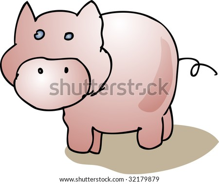 animal farm pigs. pig standing, farm animal