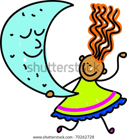 cute cartoon girl drawing. stock photo : Cute cartoon
