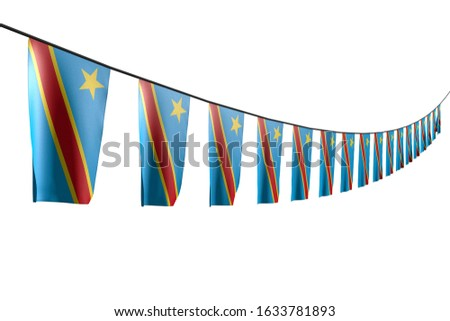 cute celebration flag 3d illustration