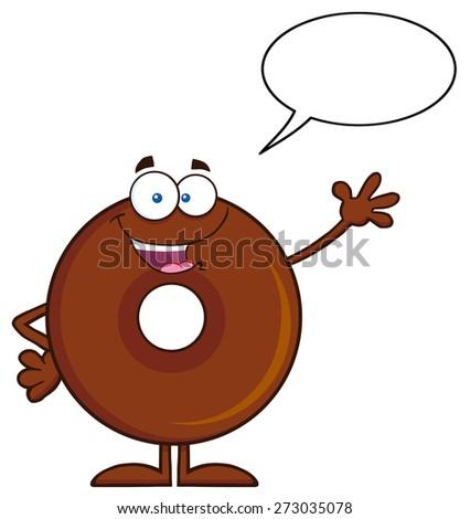Cute Donuts Cartoon Cute Chocolate Donut Cartoon